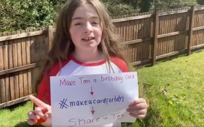 Eight Year Old Reegan Davies' 100th Birthday Card Campaign For Hero Captain Tom