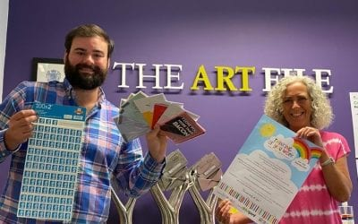 Nottingham Publisher, The Art File, spreading the wave of happiness by donating cards to local care homes and schools