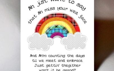 'Scottish Card Publisher Wee Wishes is giving back to their loyal customers with Rainbows of Joy'