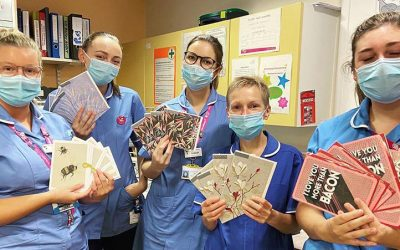 Nurses at Queen's Medical Centre share Thinking of You cards